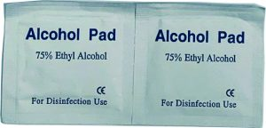Alcohol swabs individual wrap